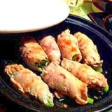 タジンでノンオイル調理 しろ菜の豚肉巻き