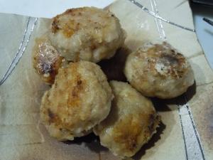 生姜味噌の大豆肉だんご風