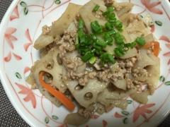 レンコン豚ミンチ炒め