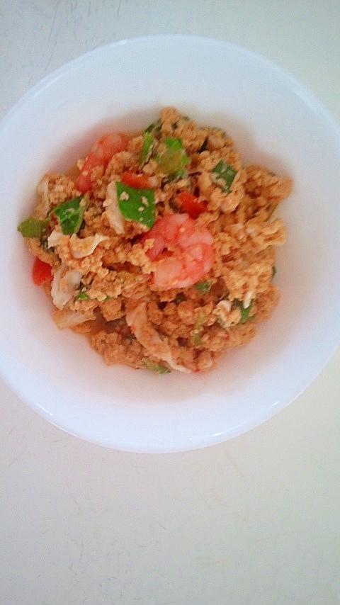 夜食にどうぞ!豆腐と海老の入り卵