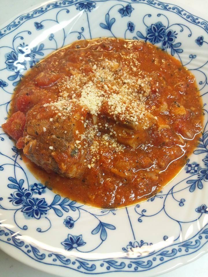 サバ水煮缶、トマト缶を使った☆サバのトマト煮込み☆