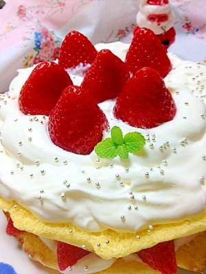 フライパンで簡単★クリスマスケーキ