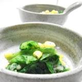 葉野菜でとろーりチーズの温サラダ♪