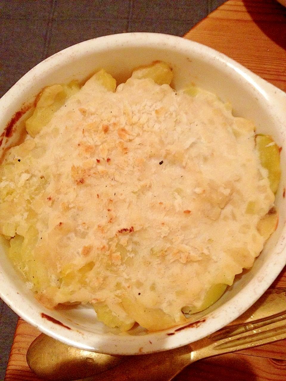 じゃがいもだけのシンプル豆乳グラタン レシピ・作り方 by macman3737|楽天レシピ