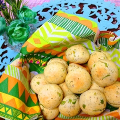 塩漬レモンde枝豆とパセリのおつまみポンデケージョ