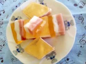 桃の節句 菱餅ゼリー
