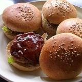 ☆ヘルシー♪全粒粉バンズの押し麦ハンバーガー☆