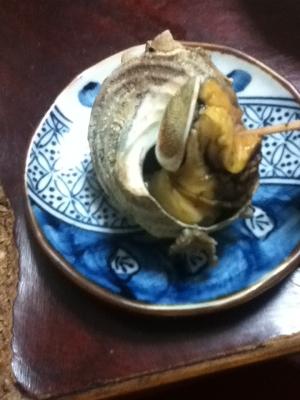 マーガリン醤油deサザエの壷焼き