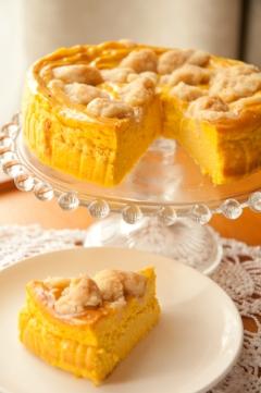 リメイクレシピ★かぼちゃの煮物チーズケーキ