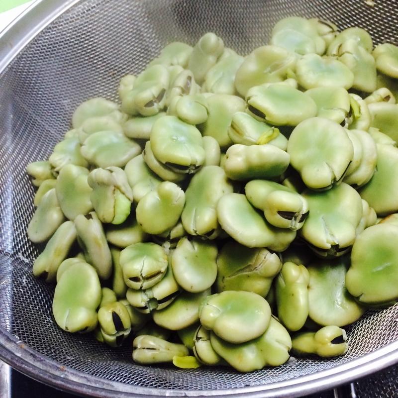 大量で硬いそら豆の湯がき方