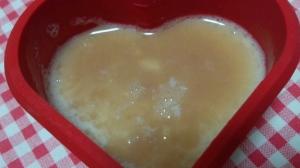 ふるふる豆乳ゼリーの珈琲豆乳餡ソースがけ