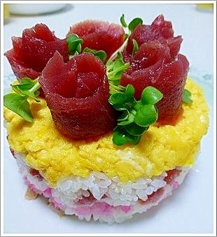 ちらし寿司deケーキ