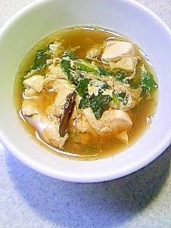 冷凍ほうれん草で豆腐玉子とじ汁