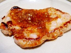 塩麹の豚肩ロース焼き