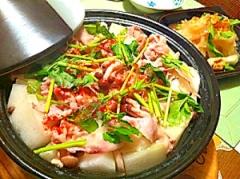 冬瓜と豚バラ肉のアツアツ塩タジン