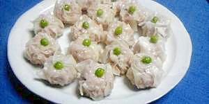 豚ひき肉+薄切り肉で☆肉しゅうまい