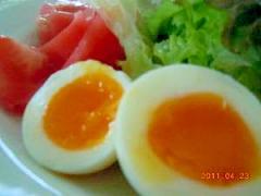 金運アップ?トロトロ半熟卵☆殻が簡単にむけるコツ付