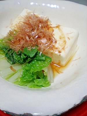 さっぱりヘルシー☆ 絹ごし豆腐と白菜のポン酢がけ
