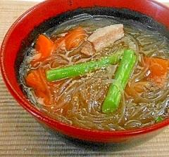 春雨スープ 胡椒をきかせて