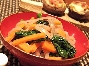 年末正月太リセット、コンニャクと野菜のポン酢和え