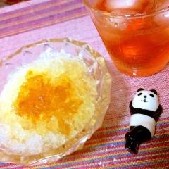 簡単美味しいオトナおやつ、柚子梅酒かき氷