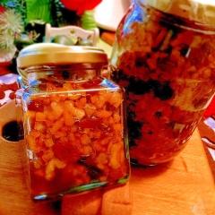 伊予柑ピール&レーズンのラム紅茶煮×胡桃の蜂蜜漬け