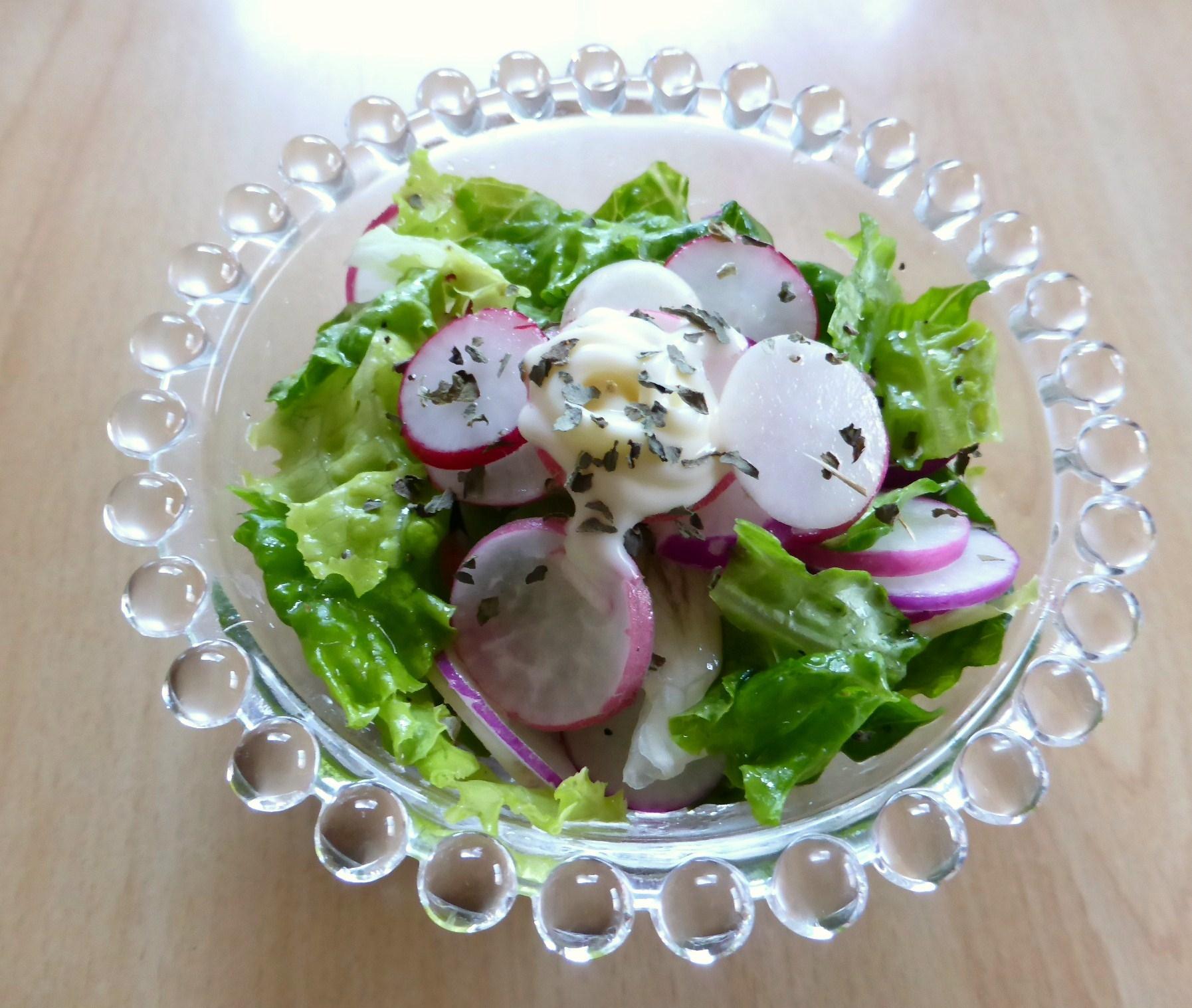 ラディッシュとリーフレタスのサラダ
