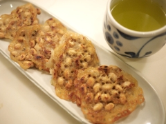 豆まきの豆で作る素朴なお茶うけ 炒り豆おやき