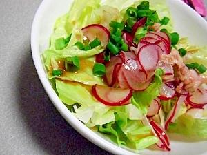 簡単♪レタスとラディッシュとツナのサラダ♪ レシピ・作り方 by すぴかか 楽天レシピ