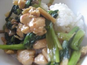 トリ★小松菜焼き(中華風)