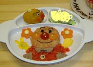 1歳のお誕生日プレート<アンパンマン> レシピ・作り方 by *juju maman*|楽天レシピ