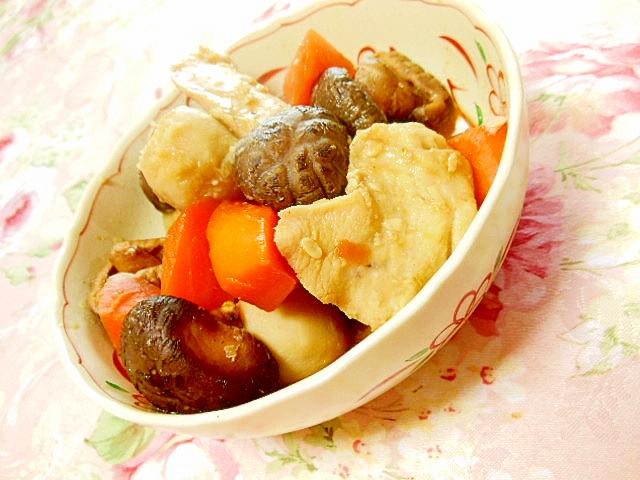 どんこ&人参&里芋&鶏肉の優しい煮物