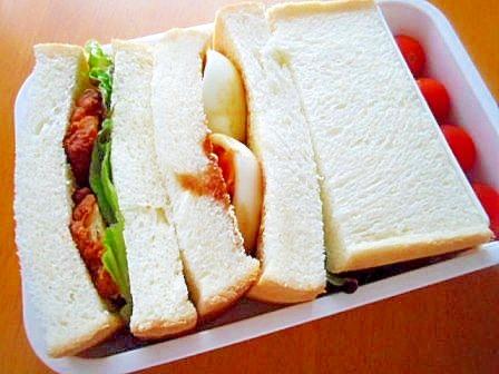 がっつりめのサンドイッチ弁当(男子弁当)