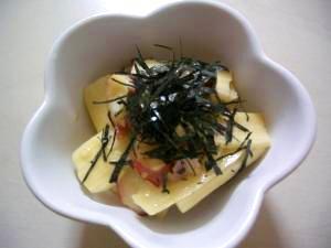 簡単副菜!タコと長芋のピリ辛あえ