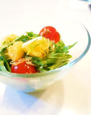 甘夏と水菜のサラダ。