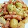 里芋とベーコンの炒め煮バター醤油風味