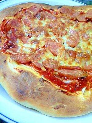 ホームベーカリーで簡単☆パンピザ