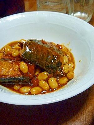 レトルトと塩サバで簡単にサバのミートソース煮