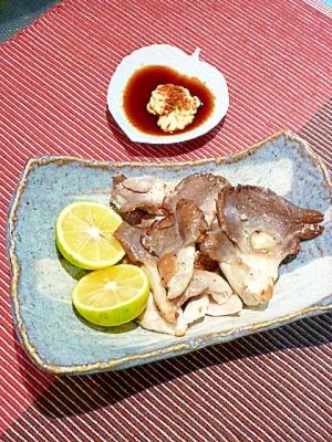 秋の味覚☆「あわび茸のバターステーキ」