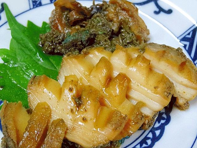 垂涎の一品☆ 「エゾアワビの肝醤油煮」