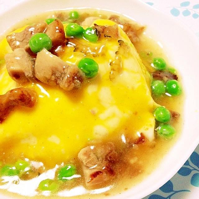 リメイクゴーヤ鶏の唐揚げあんかけ天津飯