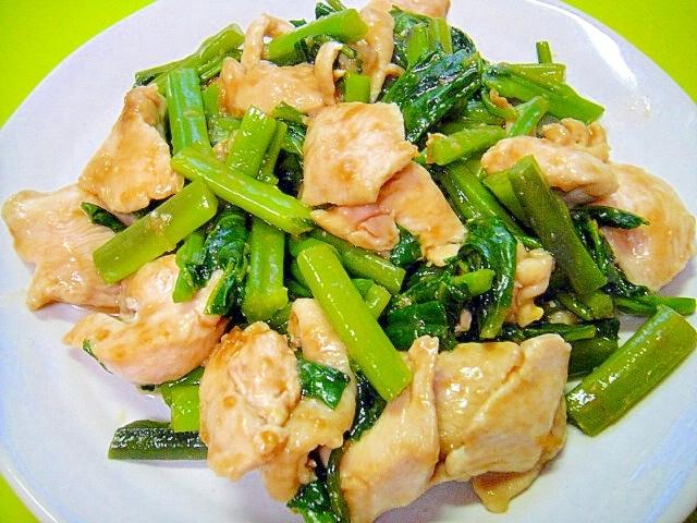つるむらさきと鶏むね肉のオイスター炒め レシピ・作り方 by mint74|楽天レシピ