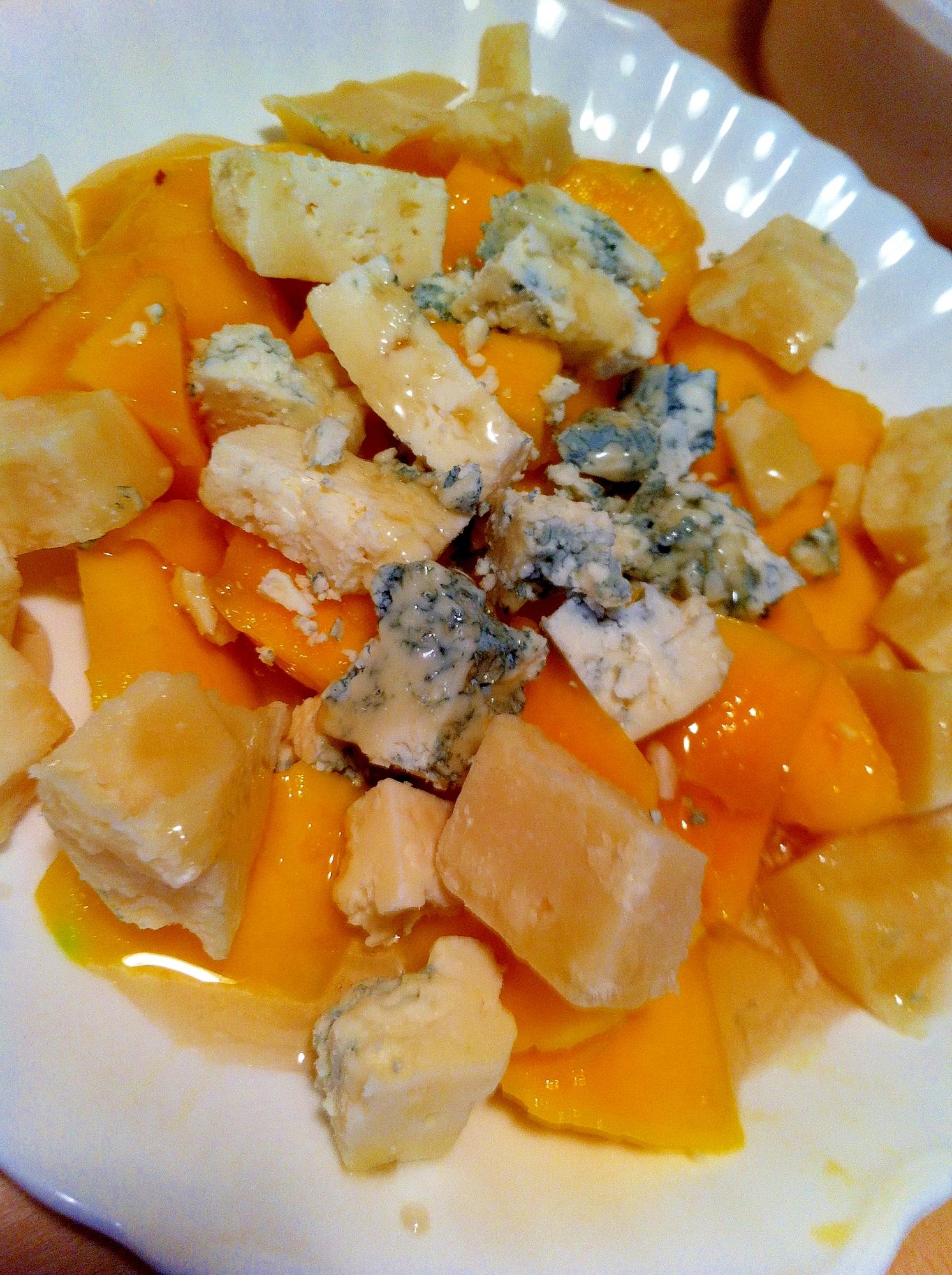 マンゴーとブルー&パルメジャンチーズ人気オードブル