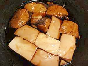 魚好きになる。ハマチと豆腐の甘辛煮
