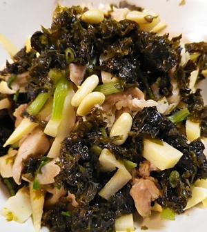 鶏竹の子海苔の加減酢