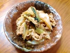 ★油揚げと白菜小松菜のごま風味きんぴら★