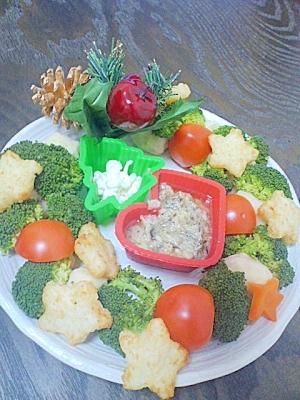 (離乳食~幼児食)クリスマスリース・サラダ