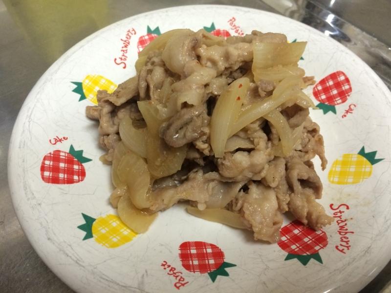 豚薄切り肉のみそ焼き肉炒め