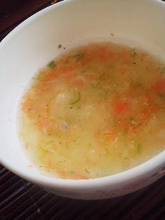 離乳食★オクラとジャガイモのトロトロスープ