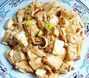 白油豆腐、豚ひれ肉の炒め